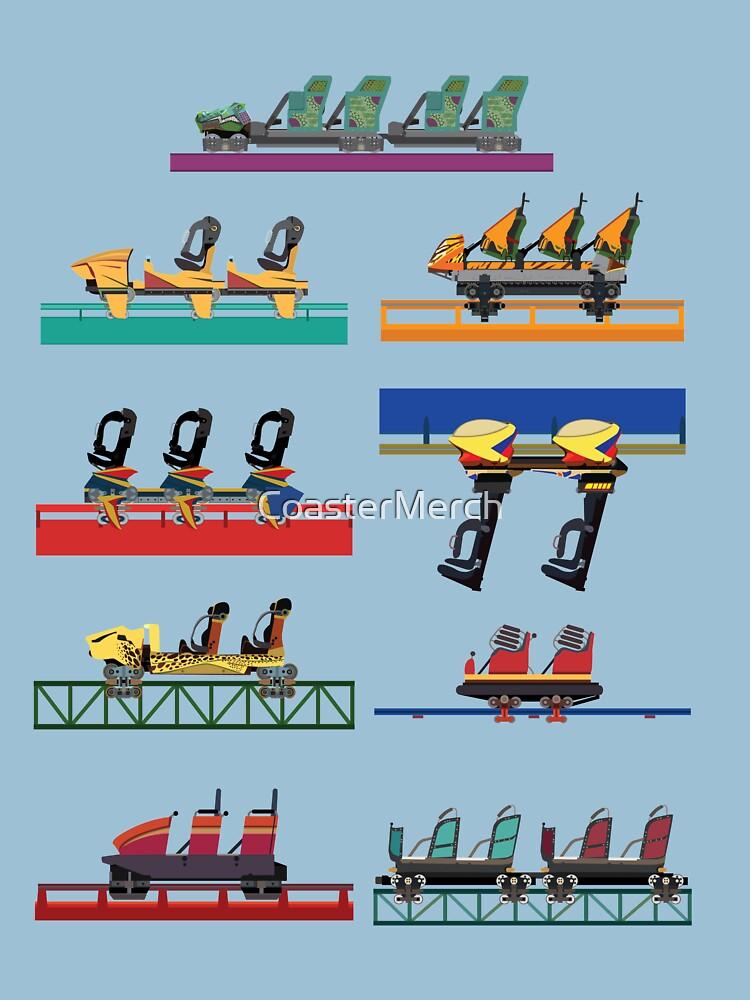Busch Gardens Coaster Cars V2 Design (with Iron Gwazi!) by CoasterMerch