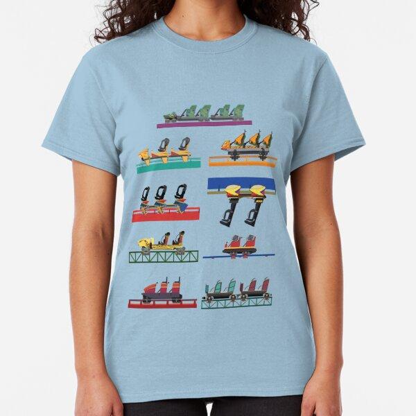 Busch Gardens Coaster Cars V2 Design (with Iron Gwazi!) Classic T-Shirt