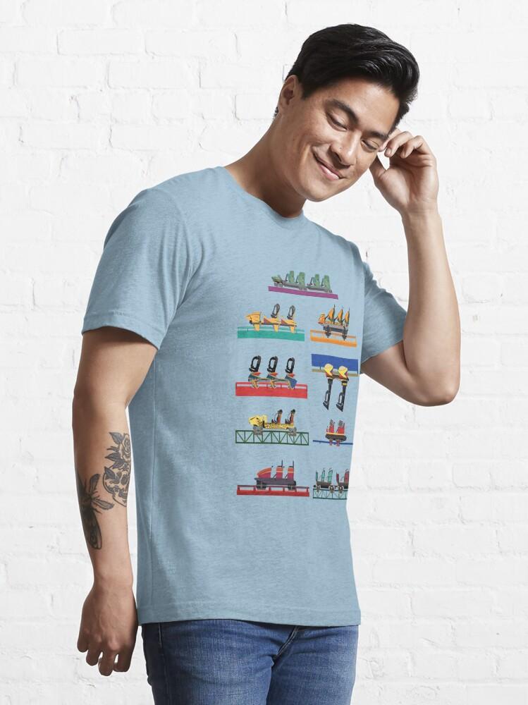Alternate view of Busch Gardens Coaster Cars V2 Design (with Iron Gwazi!) Essential T-Shirt