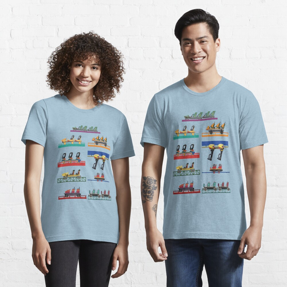 Busch Gardens Coaster Cars V2 Design (with Iron Gwazi!) Essential T-Shirt