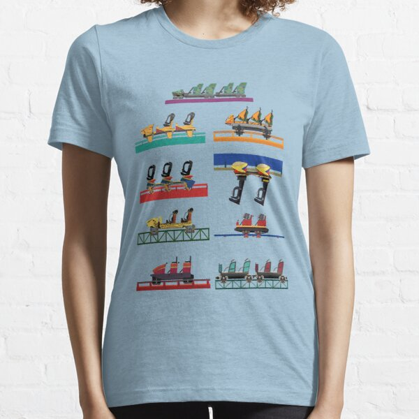 Busch Gardens Coaster Cars V2 Design (with Iron Gwazi!) Essential T-Shirt