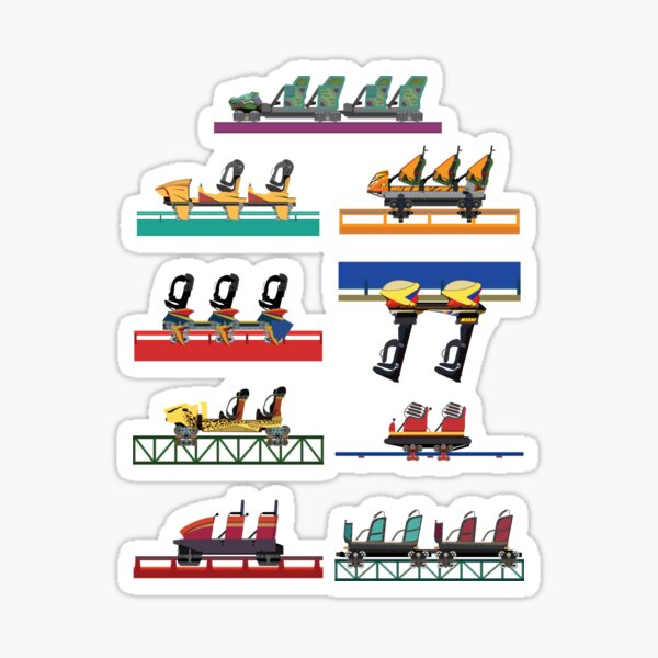 Busch Gardens Coaster Cars V2 Design (with Iron Gwazi!) Sticker