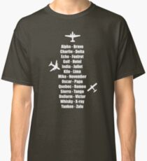 Pilot Phonetic Alphabet Military Cadet Airplanes Classic T-Shirt