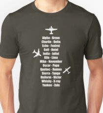 Pilot Phonetic Alphabet Military Cadet Airplanes Unisex T-Shirt