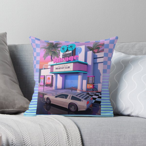 80s Cinema Throw Pillow