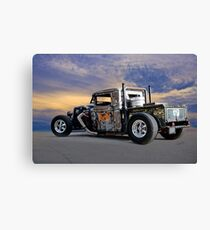 1934 Ford 'Dual Stack' Rat Rod Pickup Canvas Print