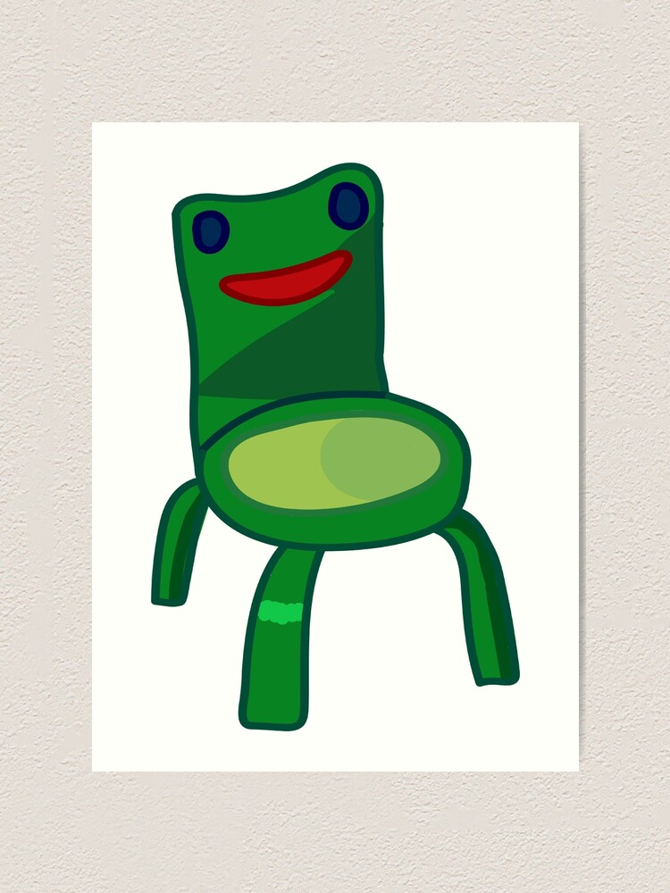Animal Crossing Froggy Chair Kunstdruck Von Sugarpudding Redbubble