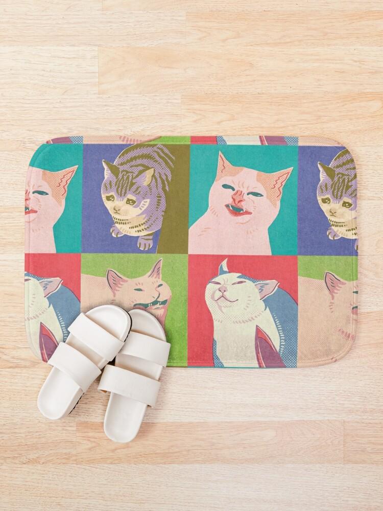 Alternate view of Four Meme Cats of the Apocalypse Bath Mat