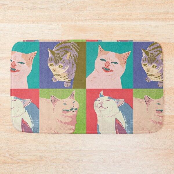 Four Meme Cats of the Apocalypse Bath Mat