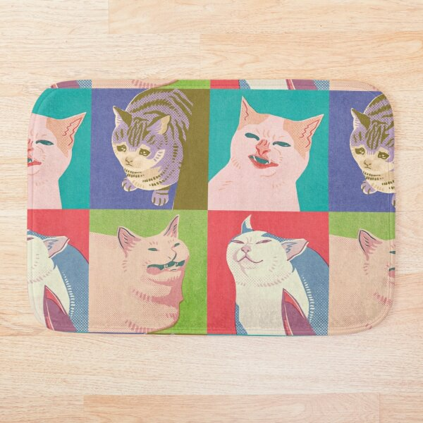 Four Meme Cats of the Apocalypse Bath Mat