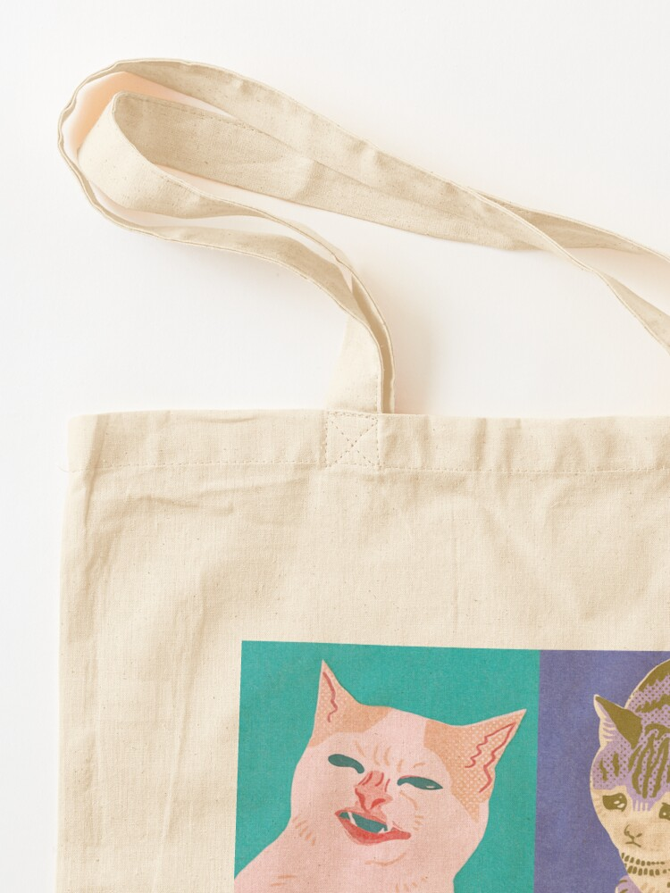 Alternate view of Four Meme Cats of the Apocalypse Tote Bag