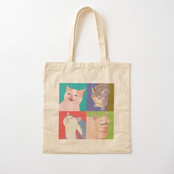 Four Meme Cats of the Apocalypse Cotton Tote Bag