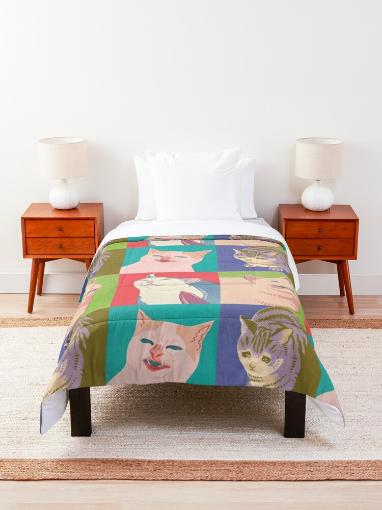 Alternate view of Four Meme Cats of the Apocalypse Comforter