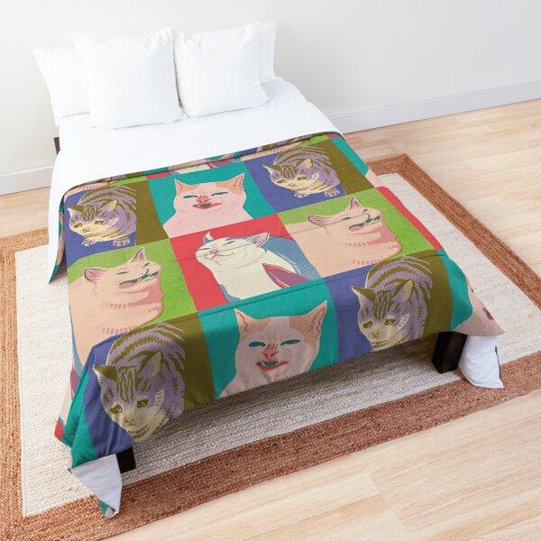 Four Meme Cats of the Apocalypse Comforter