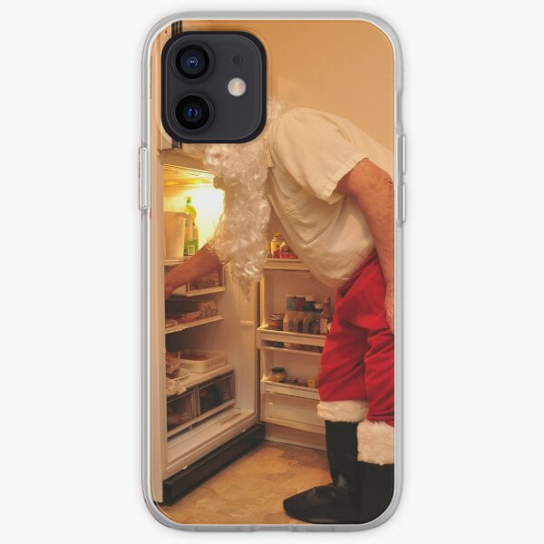 Santa is snacking iPhone Soft Case