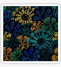 Jewel Tone Florals Sticker