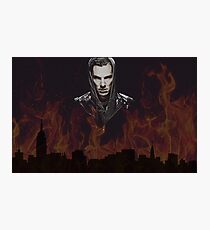 Benedict Cumberbatch - Flames Photographic Print