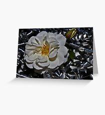 """ Heavy Metal Rose "" Greeting Card"
