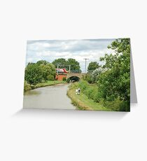 The Grand Union Canal at Blisworth. Greeting Card