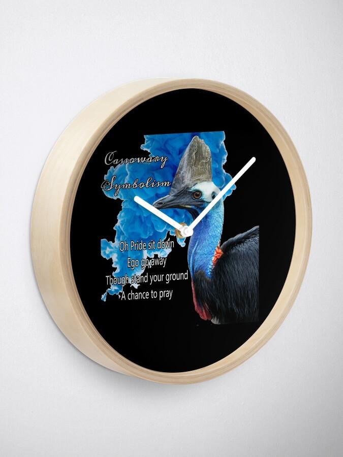 Alternate view of Cassowary Symbolism Clock