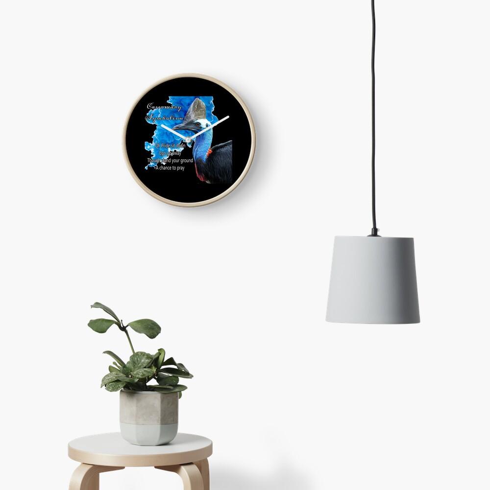 Cassowary Symbolism Clock
