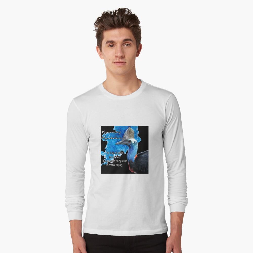 Cassowary Symbolism Long Sleeve T-Shirt