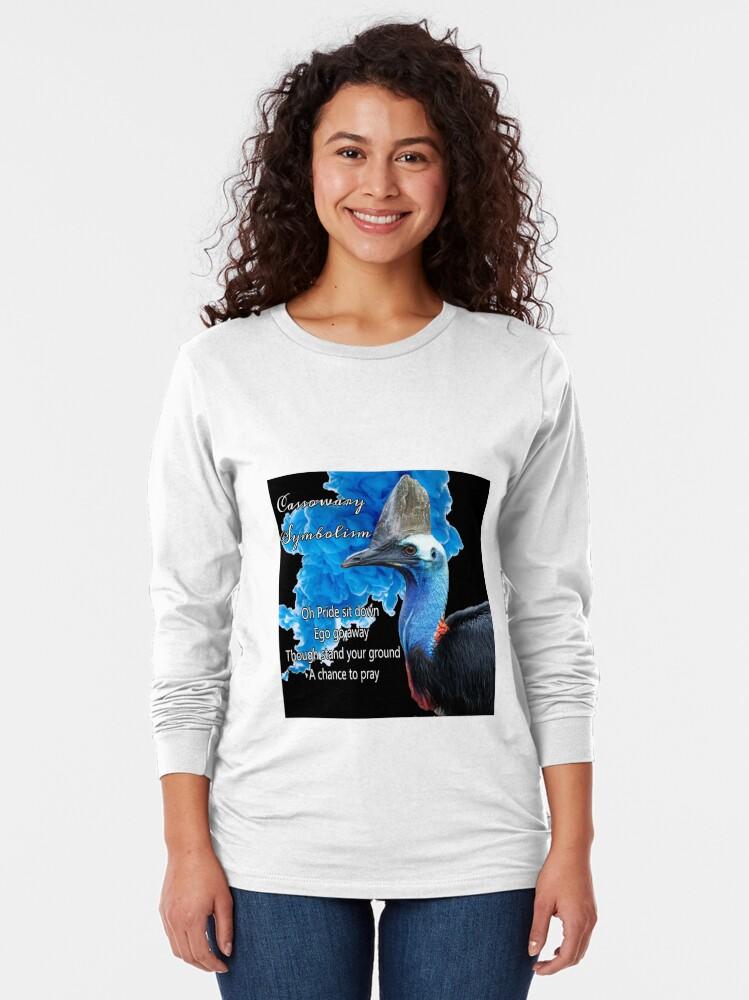 Alternate view of Cassowary Symbolism Long Sleeve T-Shirt
