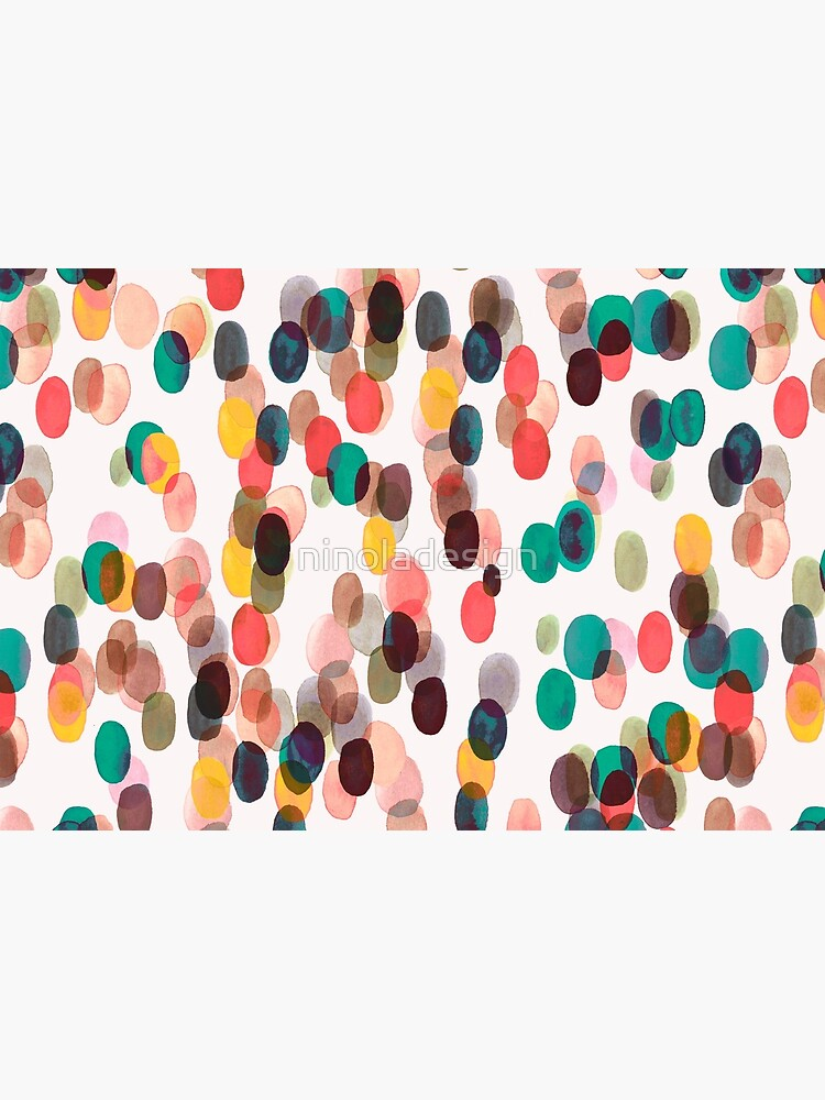Tropical rain dots - Orange green yellow by ninoladesign