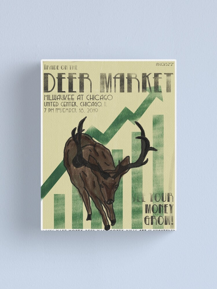 "Alternate view of ""Trade on the Deer Market"" Canvas Print"
