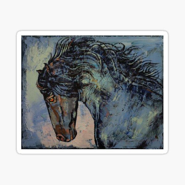 Friesian Stallion Sticker