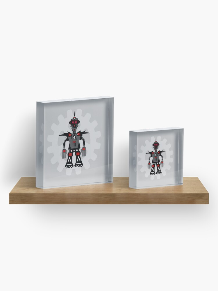 Alternate view of Evil Robot Acrylic Block
