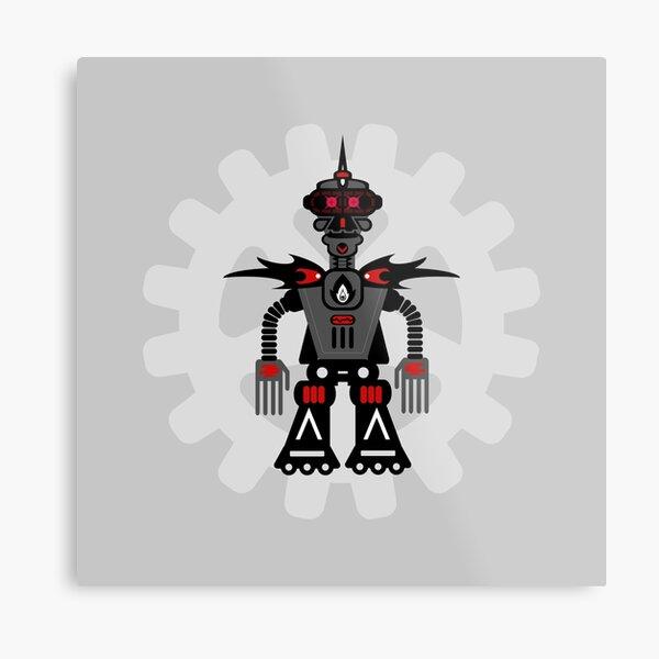 Evil Robot Metal Print