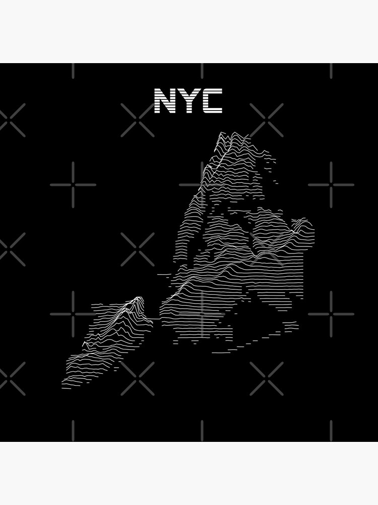 Joy Division Style NYC Elevation Map by cstats