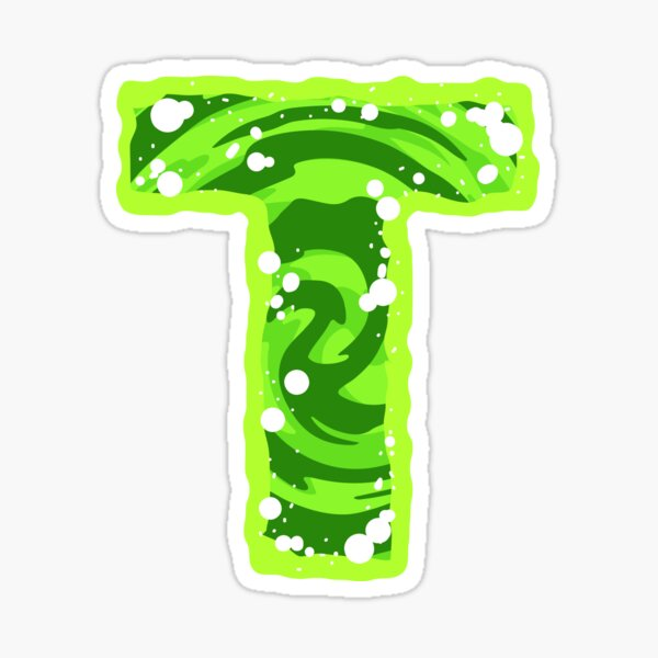Rick and Morty Green Portal - Capital Letter T Sticker