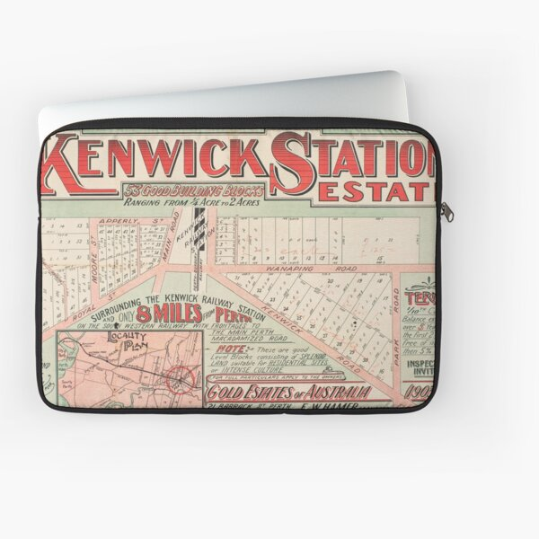 Map of Kenwick Station Estate, Perth, Western Australia, 1915, State Library of Western Australia Laptop Sleeve