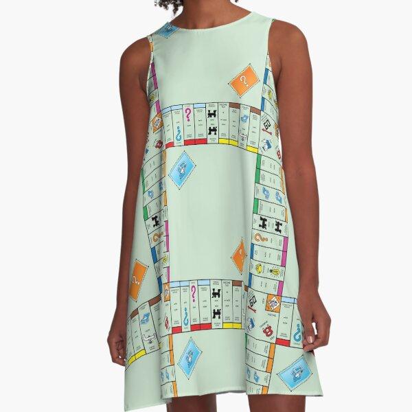 Board Game Board- monopoly A-Line Dress