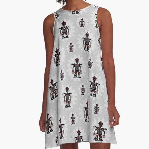 Evil Robot A-Line Dress
