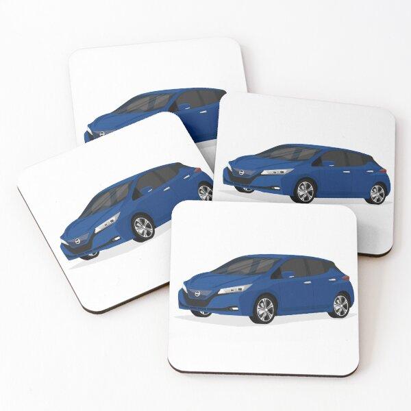 Electric Car: New Nissan Leaf (Blue) Coasters (Set of 4)