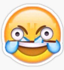 cursed laughing crying emoji Sticker