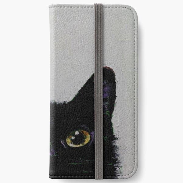 Black Cat iPhone Wallet