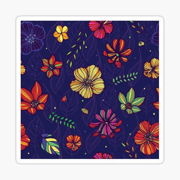 Bright linear summer flowers Sticker