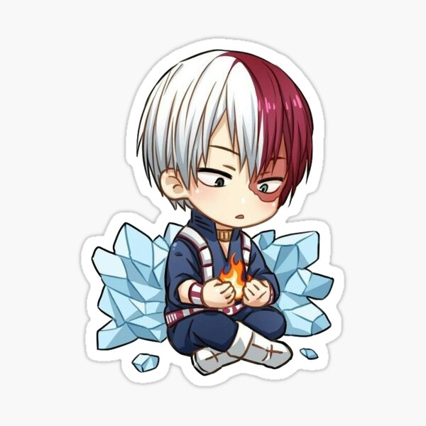 mini todoroki Sticker