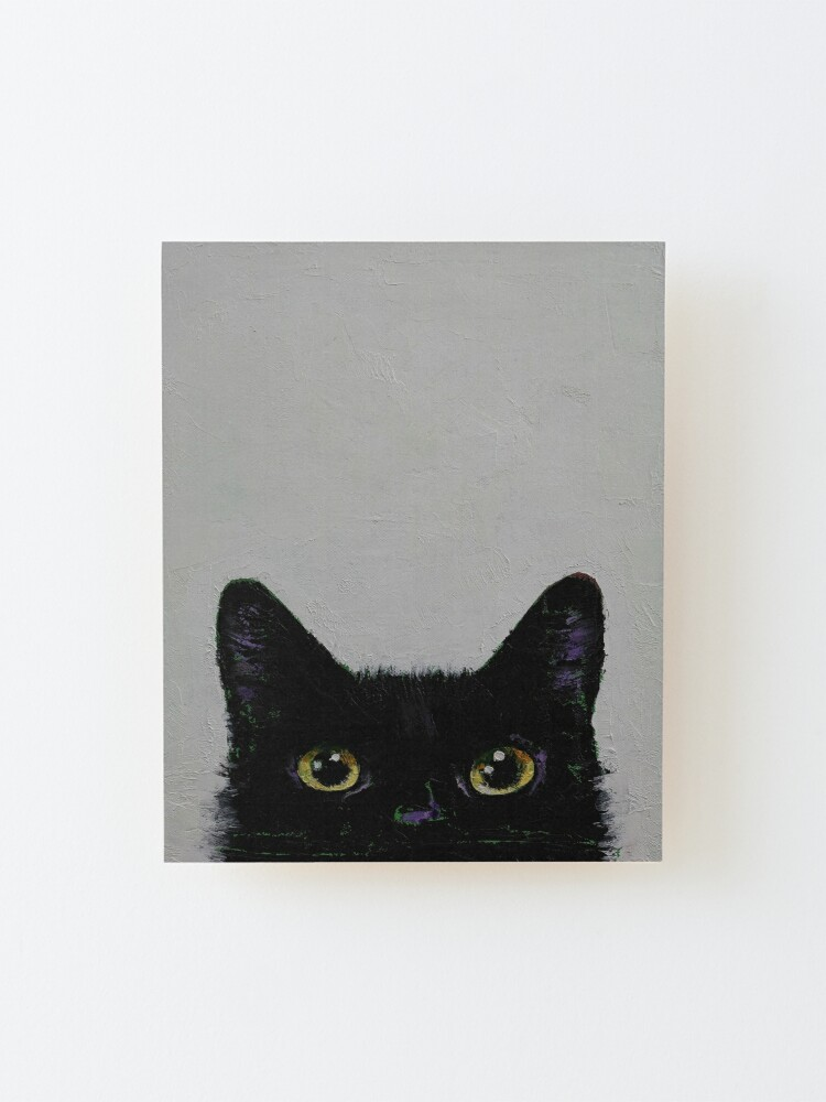 Alternate view of Black Cat Mounted Print
