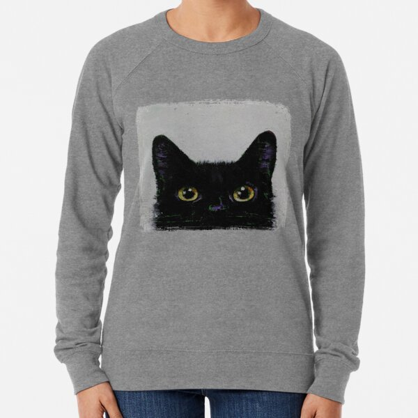 Black Cat Lightweight Sweatshirt