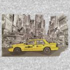NYC - Times Square - Hand Drawn - Taxi - Cab by Matty723