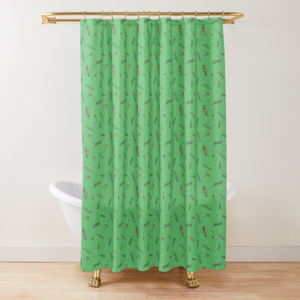 Collecting leaves Shower Curtain
