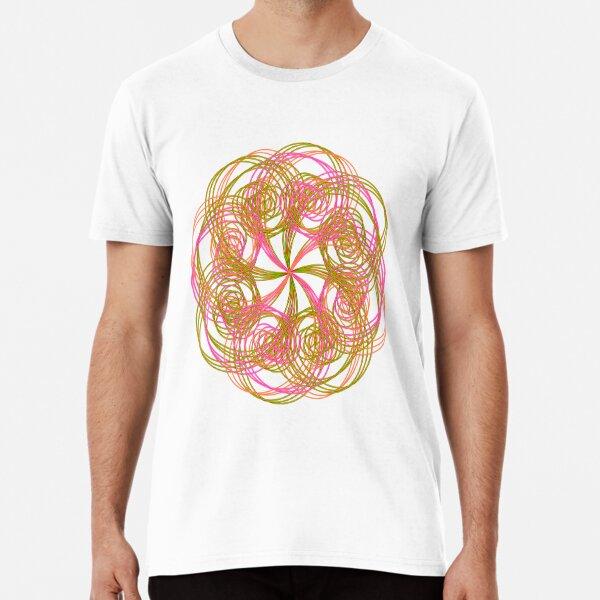 Copie de Funny Comic Flower T-Shirt in Spiral Shape Premium T-Shirt
