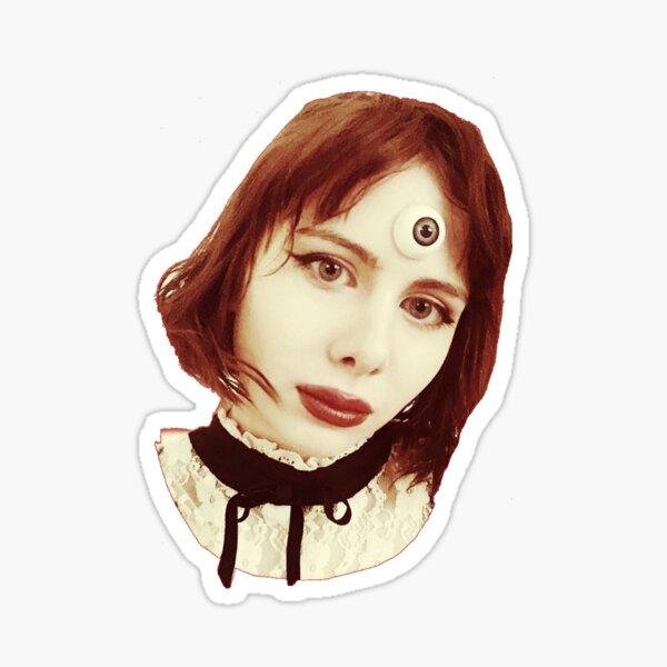 Eyeball Lady Sticker