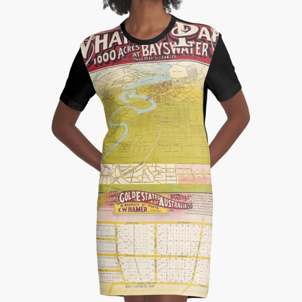 Map of Whatley Park, Baywater, Western Australia, 1920, State Library of Western Australia Graphic T-Shirt Dress