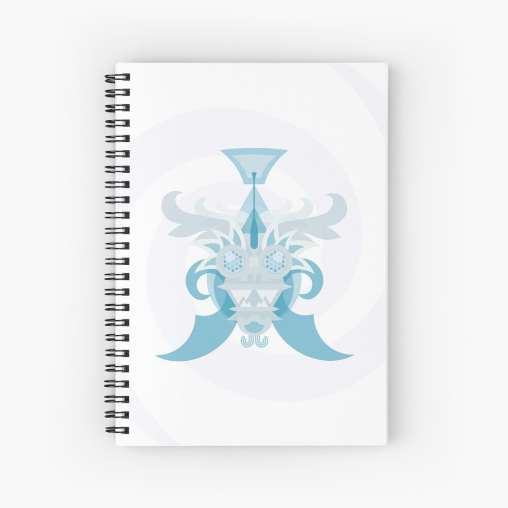 Crystal Sea Creature Spiral Notebook